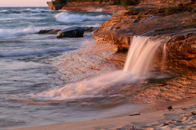Elliot Falls<br /> Miners Beach<br /> Pictured Rocks National Lakeshore