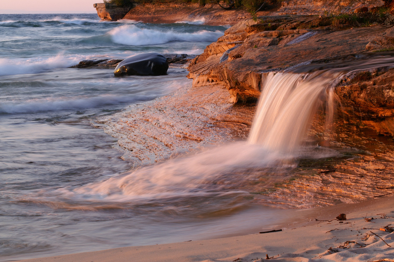 Elliot Falls Miners Beach Pictured Rocks National Lakeshore