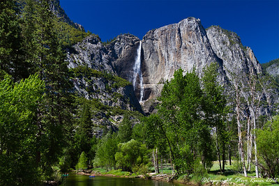 Horse Tail Fall with Merced River in foreground, Yosemite National Park - California