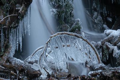 Bridal Falls in Ice, B.C. Canada