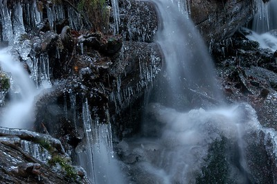 Bridal Falls in Winter with Ice