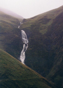 Grey Mare's Tail Waterfall - Scotland (old scan of photo)
