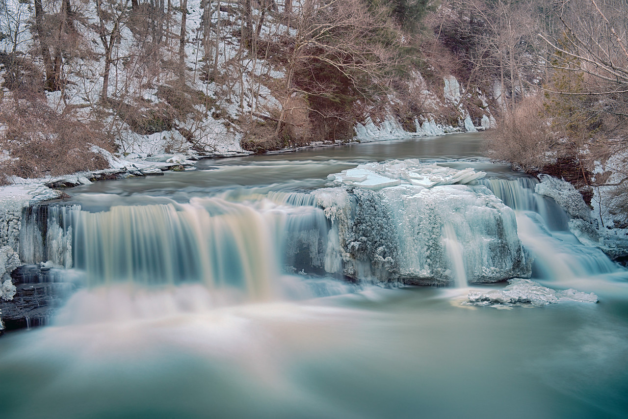 Upperville Falls in Winter