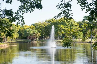 Water Fountain in Crandon Park