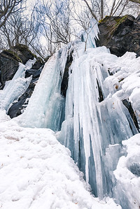 Frozen Falls Turned To Icicles At Oirase Stream