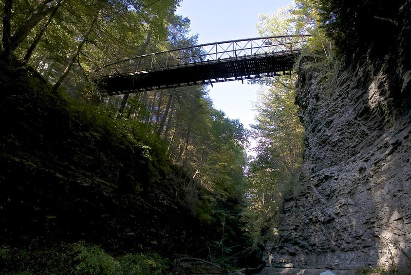 Suspension Bridge on the rim trail.
