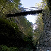 Suspension Bridge on the rim trail.