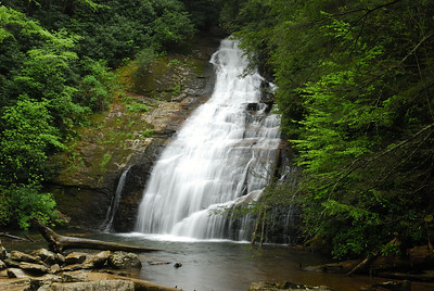 The upper Helton Creek falls