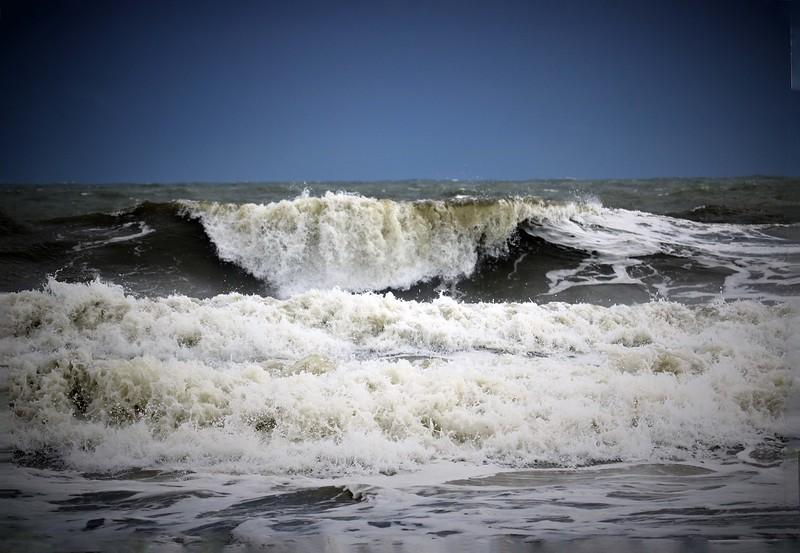 Angry Hurricane Waves