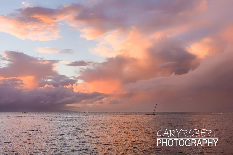 Sunset off Lahaina