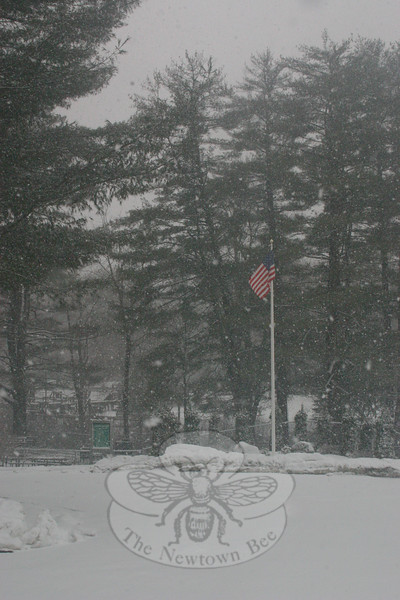 The upper parking lot at Dickinson Park -- as with the rest of the park off Elm Drive and Brushy Hill Road -- was deserted Friday morning.  (Hicks photo)