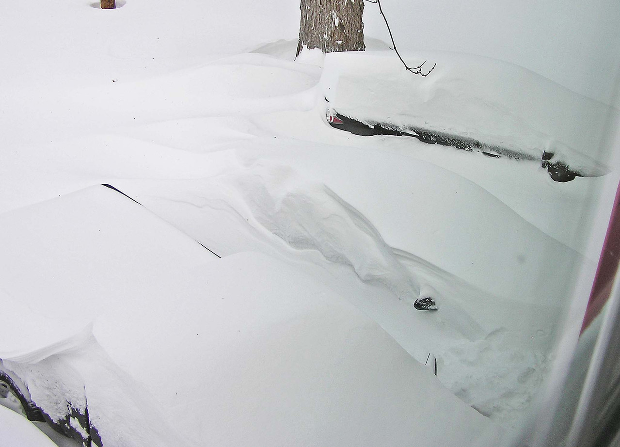 Find the two cars and my truck in the driveway.