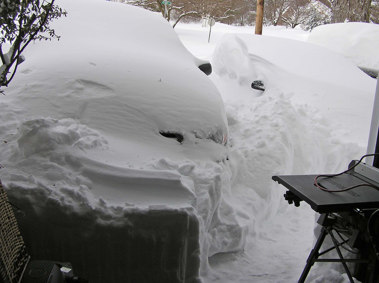 The garage door was the only way to get out of the house at first.