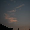 Wispy high clouds above anemometer before dawn