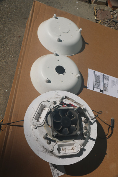 Upper part of shield disassembled