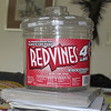 The original container: a 4 pound tub of Red Vines licorice candy