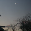 Moon, dusk clouds and anemometer