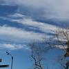 High clouds around anemometer
