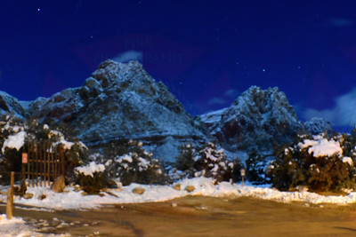 Moon Lit Mountains
