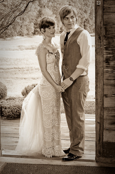 Nick and Brittney...playing the Vintage Bride and Groom perfectly!