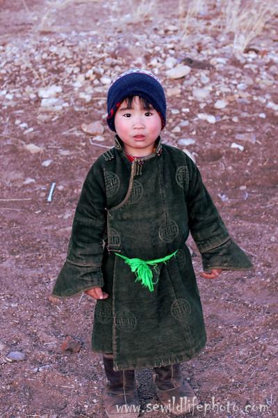 Little Mongolian herder.  Ikh Nart Nature Reserve, Mongolia.