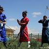 Mongolian Archers. Nadaam. Zuunmod, Mongolia.