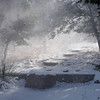 Blowing snow - Early morning - 12/08/2017. Davis Mtns State Park.
