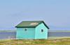 AK-SPss-2015.6.24#129.1. A fish camp on Safety Sound along the Nome to Council road. Seward Peninsula Alaska.