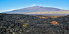 HI-Mauna Kea as seen from a lava flow half way up the slopes of Mauna Loa, Hawaii. #22.117. 1x2 ratio format.