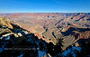 AZ-GCNP2020.1.14#3864.2. One of the great wide views from Mather Point on the south rim of the Grand Canyon. From the far laft to right, Osiris and Horus Temples, Then Shiva Temple, Isis Temple, Cheops Pyramid, The Bright Angel Canyon and to the right of it Zoroaster Temple. Grand Canyon Park, Arizona.