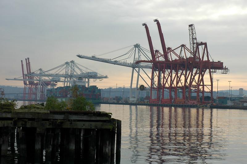 WA-2007.11.6#196.2. Docks near the US Coast Guard Station. 1519 Alaska Way, Seattle Washington.