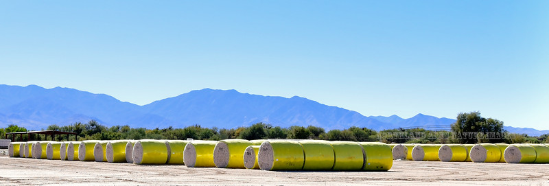 AZ-2018.1.17#117. Cotton Bails. Near Safford Arizona.
