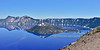 OR-2021.6.19#8358.3. The famous cinder cone Wizard Island in Crater Lake. Crater lake Nat. Park, Oregon.