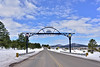AZ-W-2019.2.27#028.2. The gateway on Old Route 66 east of Williams that will take you under route 40 and onto route 64 headed to the Grand Canyon of Arizona.