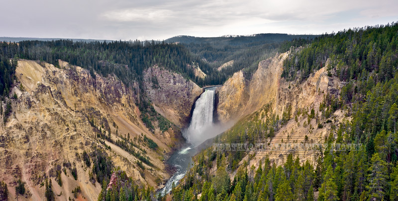 WY-YNP2017.9.14#369. The Lower Falls of the Yellowstone River. Yellowstone Park Wyoming.