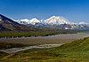 AK-DNP-2009.7.2#134.3. A view of Denali on a really fine cloudless day from near Eielson, Denali Nat. Park Alaska.