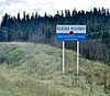 CANYK-2017.5.15#103.3. The Yukon Territory dedicates it's portion of the Alaskan Highway to all veterans. Near Swift River, Yukon Territory Canada.