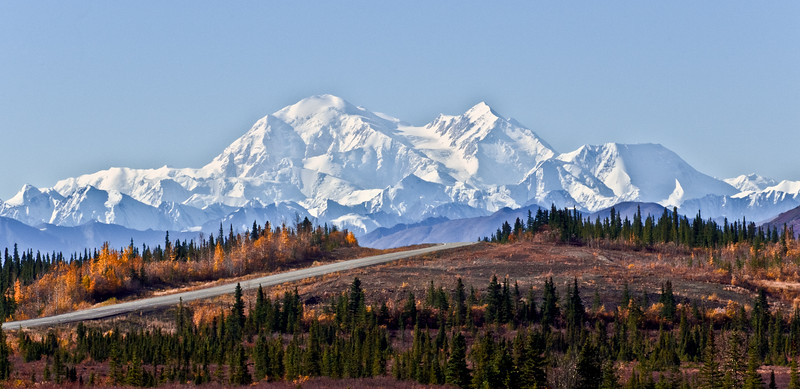 AK-2010.9.16#132.5X. A view of Denali when traveling south of Cantwell on the Parks Highway Alaska.