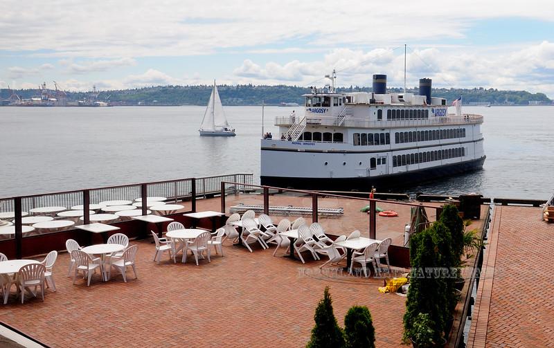 WA-2012.6.24#112. The Argosy Cruise coming into Dock. 1101 Alaska Way, Seattle Washington.