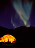 AK-1987.8#6.4. No matter the reason we were out there, one of my most favorite memories of being in the wilderness of the north country were the nights we could be outside watching the Northern Lights dancing across the sky. This scene is on the north side of the  Brooks Range Mountains of Alaska.