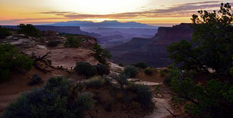 UT-CNP2017.9.16#479. Sunrise in the Canyonlands National Park, Utah.
