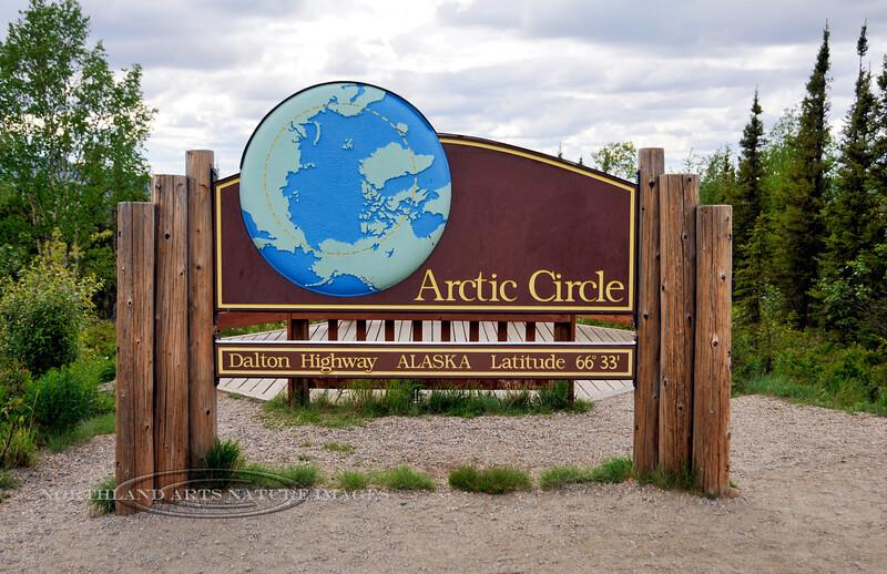 AK-2009.6.9#058.2. The Arctic Circle on the Dalton Highway in Alaska.