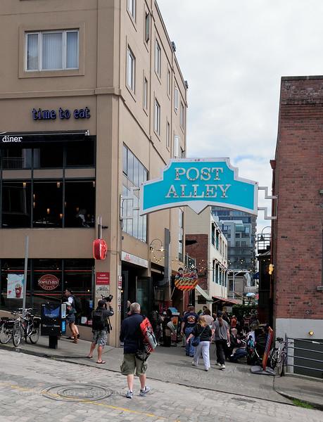 WA-2012.6.24#117.2. Famous Post Alley shops, Seattle Washington.