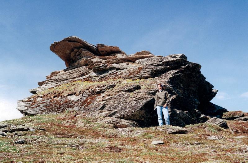 AK-SPa-2001.6#2820.3. Anvil Rock on the Summit of Anvil Mountain near Nome. Seward Peninsula Alaska.