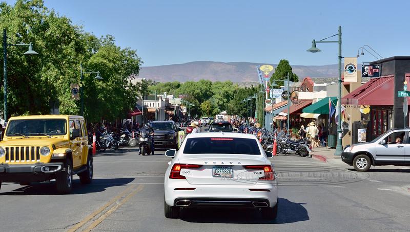 "AZ-2019.9.21#358.2. Biker Rally in ""Old Town"" Cottonwood Arizona."