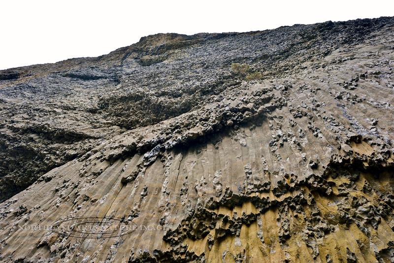 WY-2017.9.14#359.3. A view of Columnar Basalt in the Narrows area of the Grand Canyon of the Yellowstone, Wyoming.