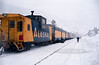AK-1984.2.26#3. The Alaska Railroad ran a Ski Train every winter from Anchorage to Grandview in the Kenai Mountains for a day of Xcountry Skiing and back to Anchorage. Alaska.