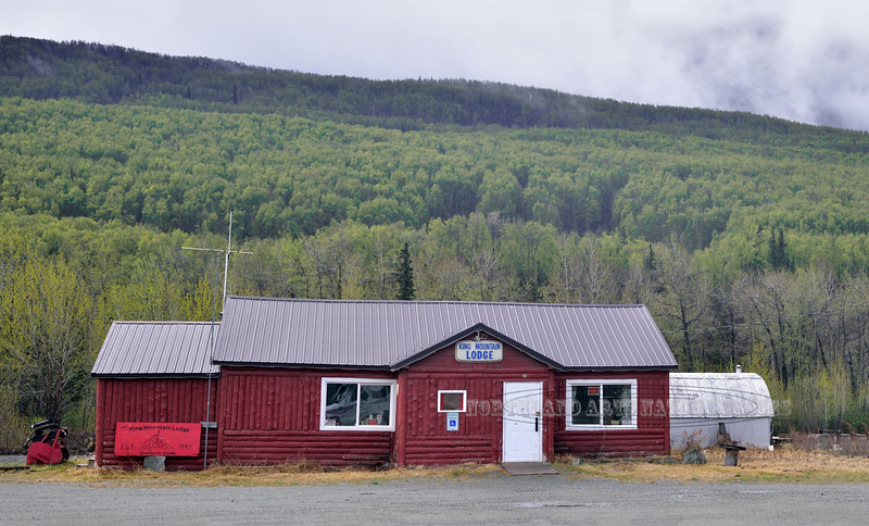 AK-2017.5.14#001.4. Historic King Mountain Lodge. A place we stopped many times in the old days. Viewed from the Glenn Highway west of Sutton near King Mountain Alaska.