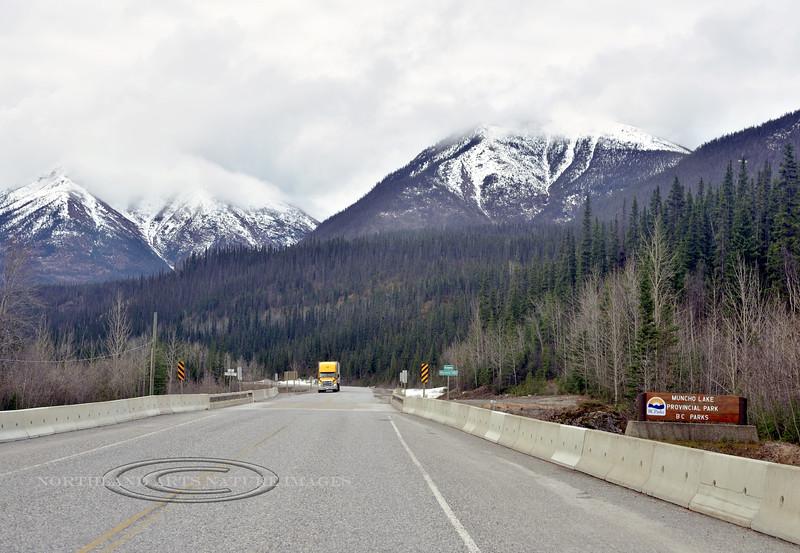CANBC-2017.5.16#171.3. Entering Muncho Lake Provincial Park on the Alaska Highway. British Columbia Canada.