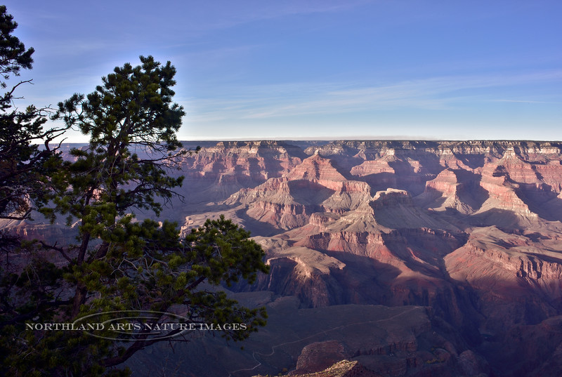 AZ-GCNP2017.11.29-The Isis Temple view from near the Geology Museum. South Rim, Grand Canyon Nat. Park, Arizona. #050.